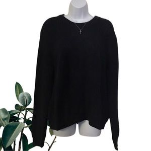 H&M oversized navy chunky cable knit sweater - XL